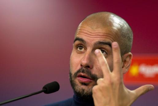 El entrenador del F.C. Barcelona, Pep Guardiola.