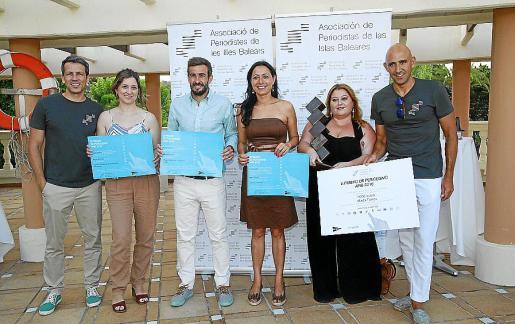 Jaime Vázquez, María Antonia Puigros, Pablo Sánchez, Ángeles Duran, Antonio Sánchez y Gonzalo Nadal.
