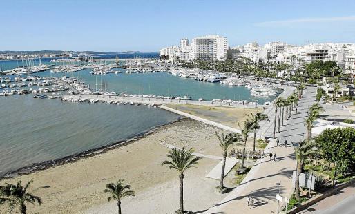 Imagen aérea del puerto de Sant Antoni.