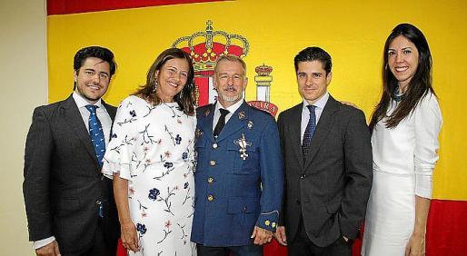 Gonzalo Fernández-Roca, Charo Sanz, Manuel Fernández-Roca -padre e hijo-, y Sonia Perelló.