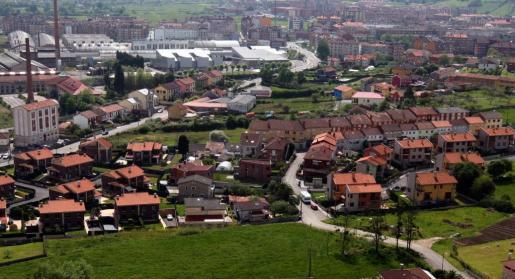 Vista general de la localidad asturiana de Siero.