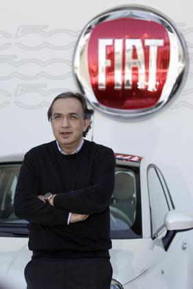 Marco Marchionne en la presentación del FIAT 500.