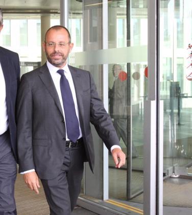 El expresidente del FC Barcelona Sandro Rosell a su salida de los juzgados en una imagen de archivo.