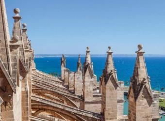 Visita gratis las terrazas de la Catedral de Mallorca.