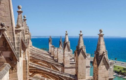 Visita desde lo alto de la Catedral de Mallorca.