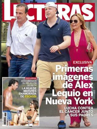 VIsta general de la portada de la revista Lecturas, donde podemos ver la nueva pareja del verano formada por Álvaro Muñoz Escassi y la empresaria Carmen Matutes.