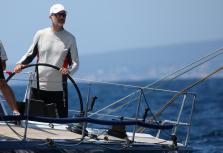 Felipe VI a bordo del 'Aifos 500'
