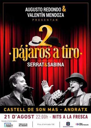 'Dos pájaros a tiro' es un tributo a Joan Manuel Serrat y Joaquín Sabina.
