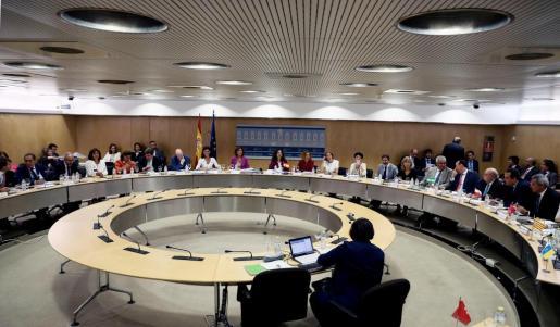 La ministra de Hacienda, María Jesús Montero, preside la reunión con los consejeros de Hacienda de las comunidades autónomas en el Ministerio de Hacienda en el Consejo de Política Fiscal y Financiera (CPFF).