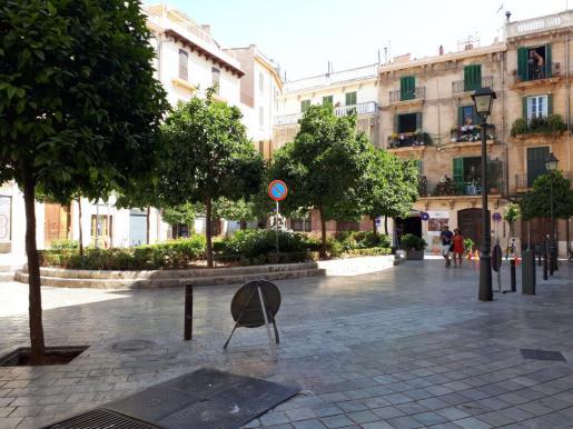 La plaza Banc de s'Oli ya es peatonal.