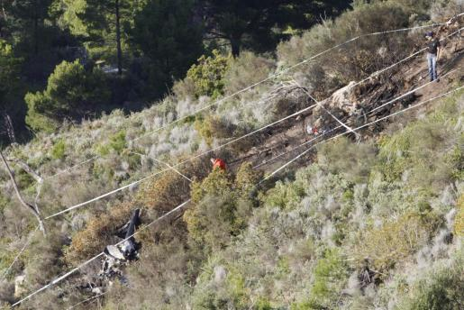 El helicóptero sobrevolaba una zona forestal del municipio mallorquín de Andratx.