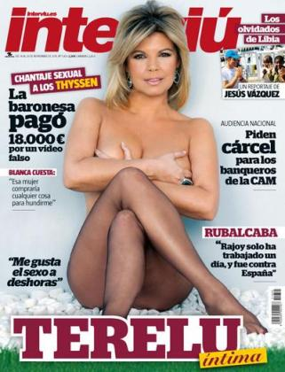 Terelu Campos, en la portada de 'Interviu'.