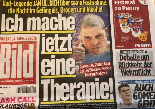 El campeón ciclista ha concedido una entrevista a Bild en la que reconoce que hace terapia.