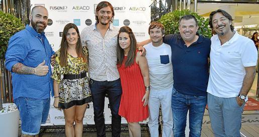 Bruno Selles, Laura Méndez, Nando Martínez, Patricia Canyellas, Marcos Servera, Rafel Llompart yToni Gil.