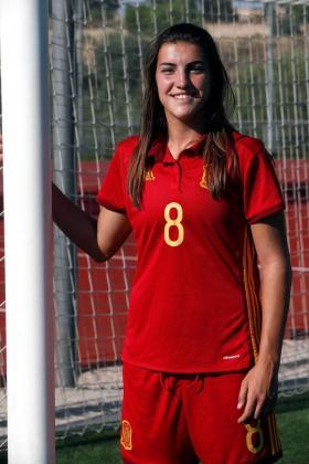Patri Guijarro está llamada a liderar a la selección española sub-20 en el Mundial. En el primer partido ha marcado tres goles.