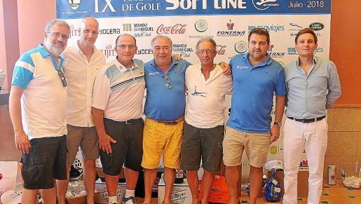 Bernat Homar, Pedro Jordà, Juan Díaz, Sebastián Mariano, José Luis Serrano, Alberto Mariano y Xavier Roca.