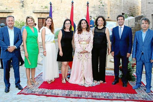 Joan Mesquida, Margalida Duran, Margalida Prohens, Joana Maria Adrover, Nezha Attahar, Catalina Cladera, Biel Company y Xavier Pericay.