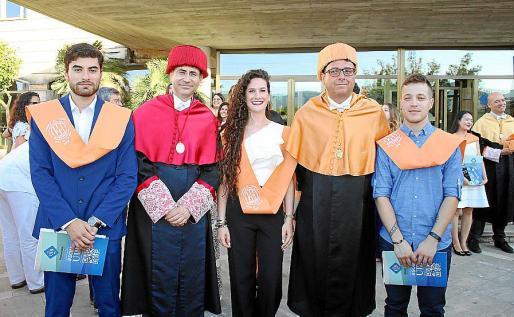 Narek Davtyan, Felio Bauzá, Rosabel Rubio, Bartolomé Deyá y Rafael Ramos.