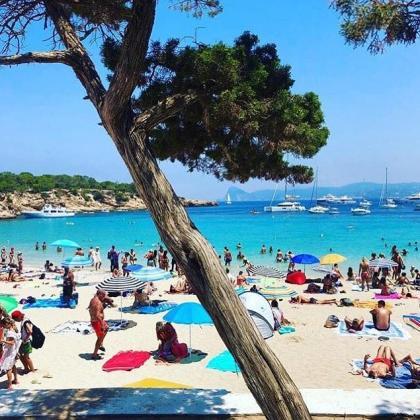 Imagen de Cala Bassa en Ibiza.