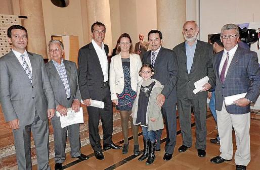 Gabriel Company, padre e hijo, Miguel Ángel Nadal, María Salom, Josep Oliver, Inés Tugores, Toni Pinya y Joan Seguí.