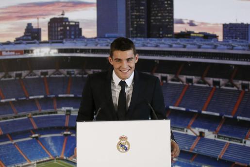 Imagen de archivo de Mateo Kovacic durante su presentación como jugador del Real Madrid.