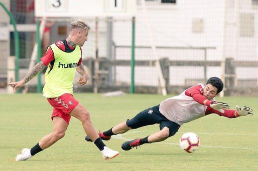 El atacante mallorquín, en una imagen en su nueva etapa como jugador de Osasuna.