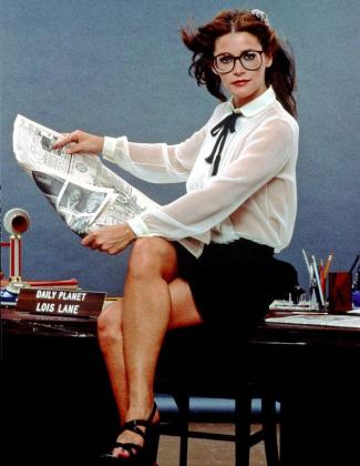 La actriz Margot Kidder en una imagen promocional de la película Superman.