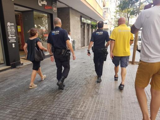 La Policía Local de Palma se ha hecho cargo de la situación.