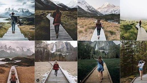 Imagen de una de las publicaciones de la joven estadounidense que ha creado una cuenta para criticar la escasa originalidad en las fotos que publicamos.