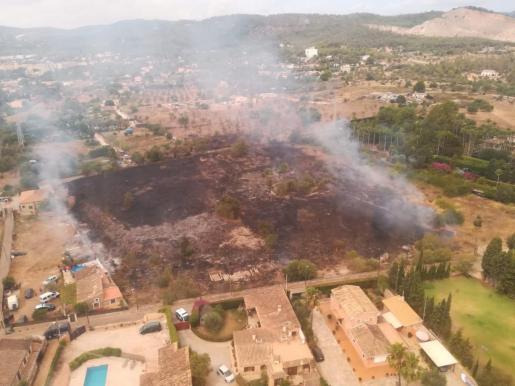 Imagen de la zona afectada por el incendio.