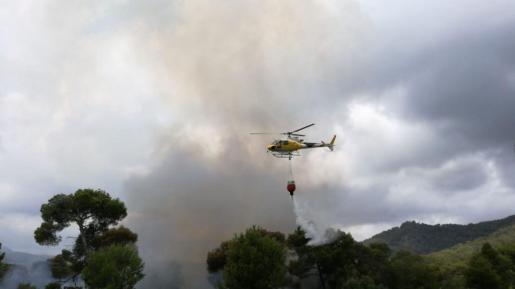 Imagen del incendio en Costa de los Pinos.