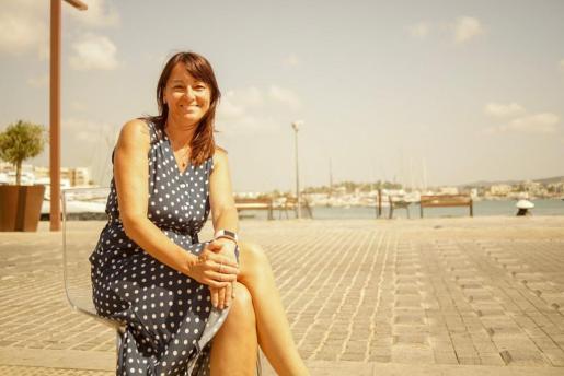 La directora de Ibiza Magna en un momento de la entrevista