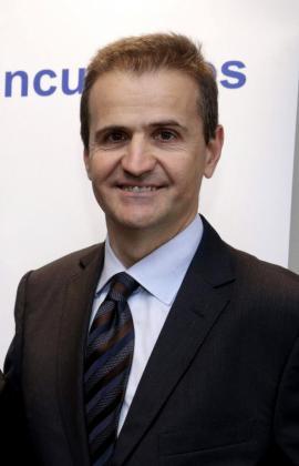 Imagen de archivo, tomada el 18 de febrero de 2015, del periodista Manuel Erice, que ha fallecido en la Clínica Universitaria de Pamplona.