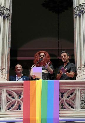 Vivian Caoba, en el pregón del día del Orgullo LGTBI.