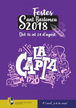 Cartel de las fiestas de Sant Bartomeu en Consell.