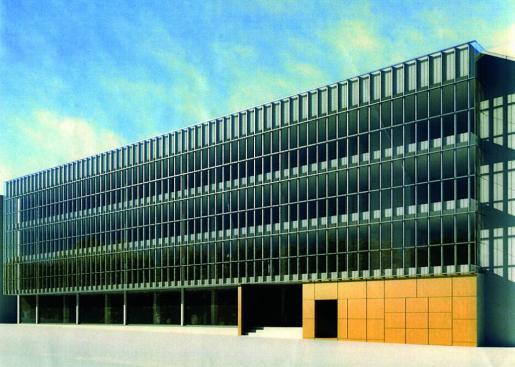 Recreación del proyecto aprobado para edificar en el solar ubicado en la calle Gremi Sucrers i Candelers, 6A del polígono Son Castelló, en Palma.