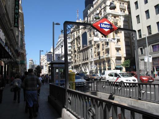 Imagen de la estación de metro de Gran Vía en Madrid.