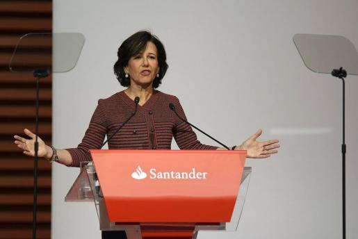 La presidenta del Banco Santander, Ana Botín, durante una Junta General de Accionistas de la entidad bancaria.