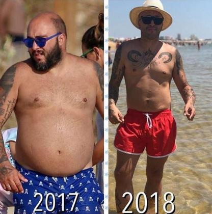 Kiko Rivera muestra el antes y el después de su físico en bañador tras adelgazar 42 kg.