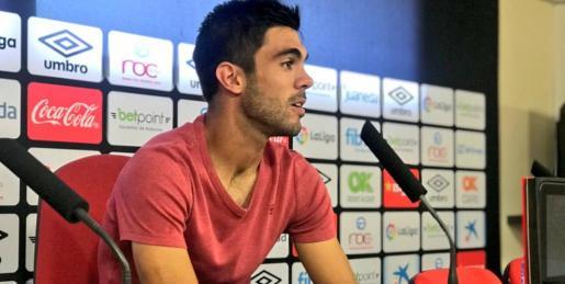 Salva Ruiz durante la rueda de prensa de este jueves en Son Bibiloni.