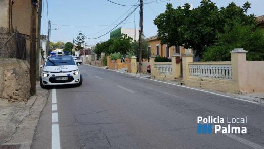 Imagen facilitada por la Policía de Palma del lugar del atropello.
