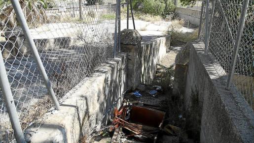 El velódromo de Es Tirador se encuentra en un estado lamentable de abandono.