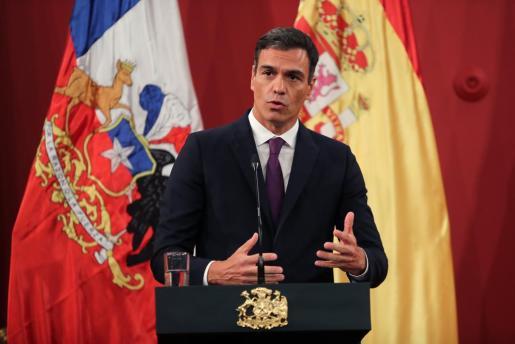El presidente del Gobierno, en la recepción oficial organizada por su homólogo chileno.