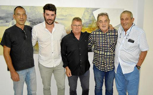 Ricard Chiang, Biel Perelló, Menéndez Rojas, Pep Coll y Biel Perelló.