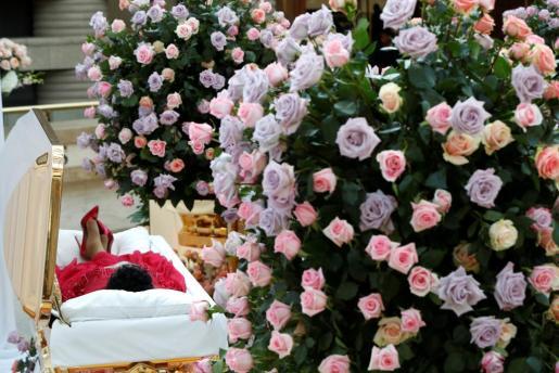 Imagen del funeral de Aretha Franklin.