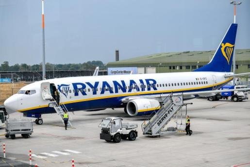 Imagen de un avión de Ryanair.