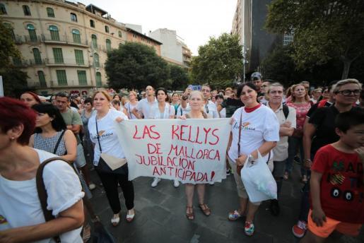 El pasado sábado las 'kellys' se concentraron en Palma para reivindicar sus derechos.