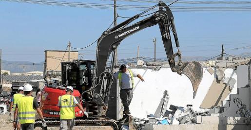 Imagen de los derribos de viviendas realizados a finales del pasado mes de julio en el poblado.