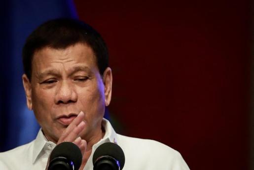 El presidente filipino, Rodrigo Duterte, durante un discurso en Filipinas.
