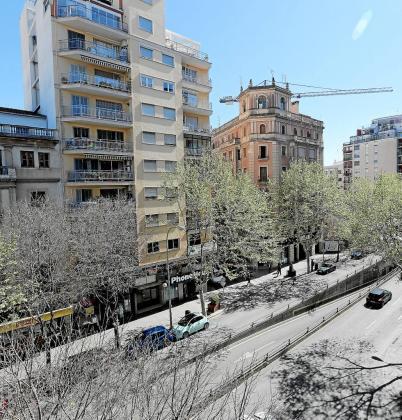 Vista general de una céntrica calle de la ciudad de Palma.